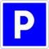 wide private parking free area